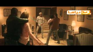 مشهد انقاذ حبيشة لأبن فاطمة بيومي الصحفية من مسلسل ابن حلال