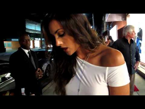 Katie Cleary arrives at Beverly Hills Lifestyle Magazine Fall 2012 Launch Party