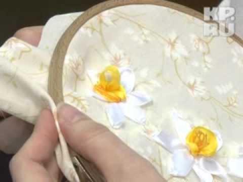 У марины вышивка лентой