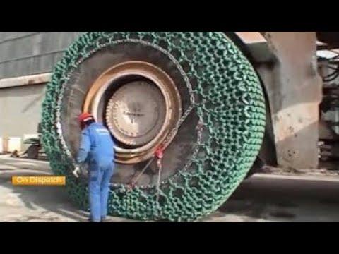 Amazing Biggest Chain Tire Biggest Excavator Super Power
