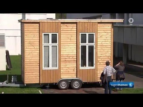 Tinyhouse / Minihaus: Wohnen auf 6,4 Quadratmetern (Tagesschau + Tagesthemen 10.04.2017) ARD