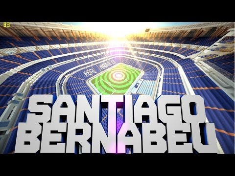 Minecraft PE Custom Map Santiago Bernabeu Stadium [DOWNLOAD]