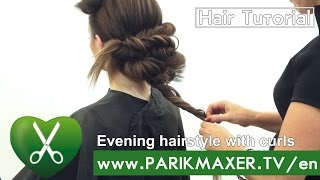 Evening hairstyle with curls. parikmaxer tv USA