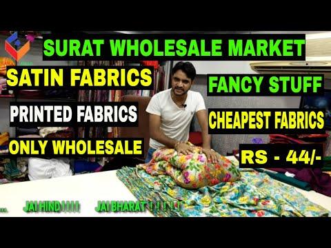 Lateast Design Japan Satin Print Fabric | Surat textile market surat | होलसेल कपड़ा मार्केट सूरत |