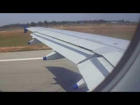 Indigo airlines take off from bangalore airport
