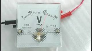 KDSI BP-80 AC300V analog voltmeter video