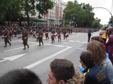 Desfile Militar en Madrid. España.  12 de Octubre de 2014  Día de la Hispanidad
