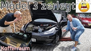 Tesla Model 3 zerrupft / Hohlraumversiegelung Ergebnis / Kosten