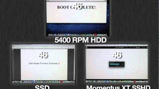 Momentus XT 750GB, confronto con hard disk da 5400 RPM e SSD Apple