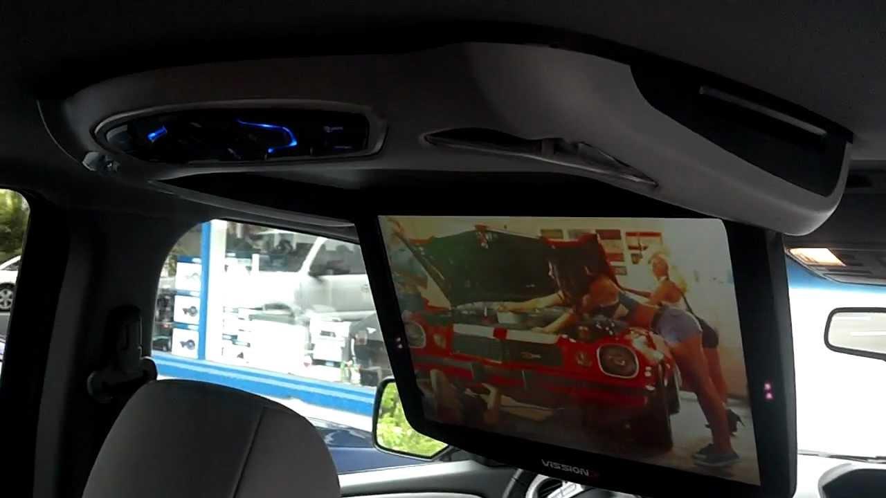 12 Honda Pilot rear seat entertainment. - YouTube