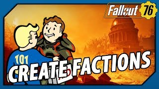 FALLOUT 76 - THIS is how CREATING FACTIONS Should Work
