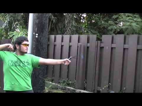 Shooting the PVC Slingshot