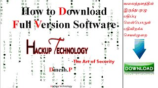 How To Download Full Version Softwares For Free தமிழ் Hackup Technology VideoMp4Mp3.Com
