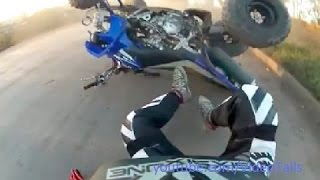 #1 ATV Crash Compilation Fail - Quad Yamaha Raptor Suzuki Honda
