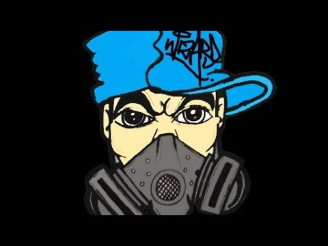 Drawing a Gas mask Character with SprayCans by WIZARD