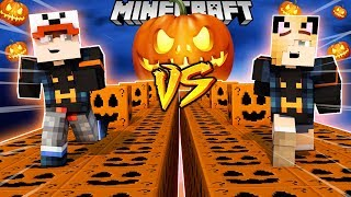 SZALONY WYŚCIG! - HALLOWEENOWE LUCKY BLOCKI MINECRAFT! (Lucky Block Race) | Vito vs Bella