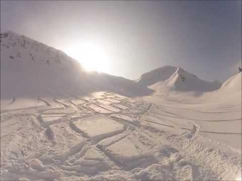 Vorarlberg/Kleinwalsertal/Schwarzwassertal/Schwarzwasserhütte Skitour / Freeride (GoPro)