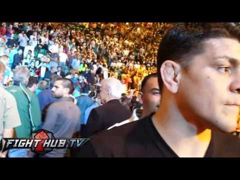 Nick Diaz reacts to Canelo vs  Angulo stoppage as fans boo