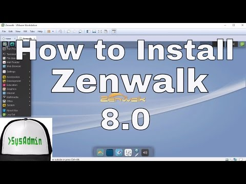 How To Install Zenwalk Linux 8.0 + Review + VMware Tools On VMware Workstation Tutorial [HD]