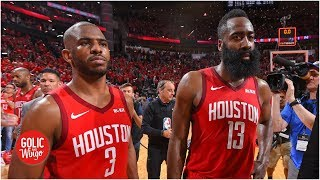 'It's good that there's tension' between Chris Paul and James Harden - Daryl Morey | Golic and Wingo