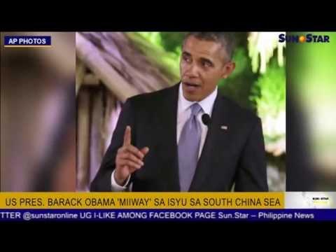 U.S Pres. Barack Obama 'miiway' sa isyu sa South China Sea