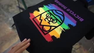 7 color screen print job