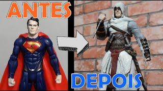 TRANSFORMANDO O SUPERMAN EM ASSASSINS CREED (ALTAIR)- TOY MAKEOVER