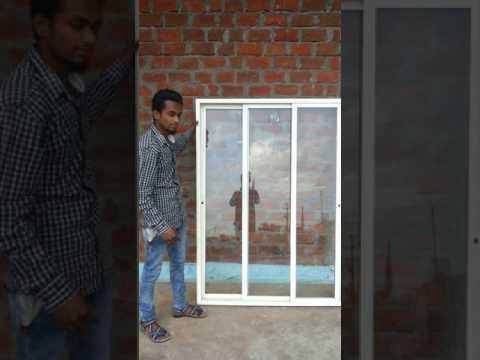 My Aluminium work 3 track window.  Mohammad Shadab.  Contact me : 9806345550 Hoshangbad, m.p