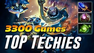 TECHIES TOP 1 Dotabuff 3300 Games | Dota 2 Pro Gameplay