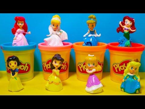 Princess Surprise Play Doh Sparkle Ariel Elsa Anna Rapunzel Disney Frozen Glitter Glider