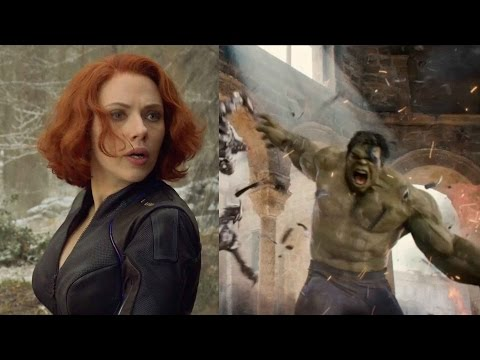 The Avengers: Age of Ultron Interviews w/ Scarlett Johansson and Mark Ruffalo
