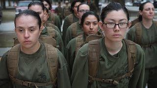 Female Marine Recruit Training at Marine Corps Recruit Depot, Parris Island