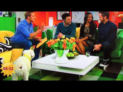 zachary quinto, chris pine and zoe saldana on german tv show