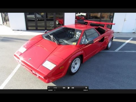 1988 Lamborghini Countach 5000 Quattrovalvole Start Up, Exhaust, and In Depth Tour