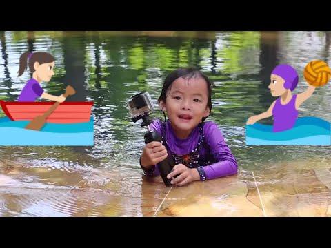 Belajar berenang bersama fans Lifia Niala