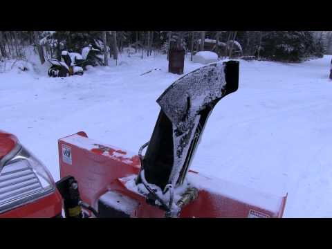 Kubota 2750D Snowblower Motorized Chute Rotation and Deflector