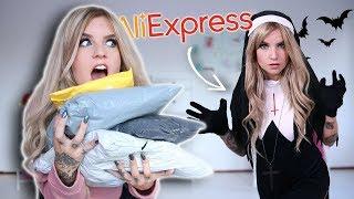 HALLOWEEN outfits van ALIEXPRESS uitproberen