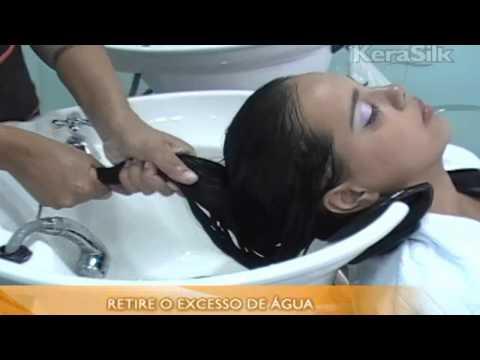 Aplicação da Linha de Tratamento Plástica Capilar Kerasilk
