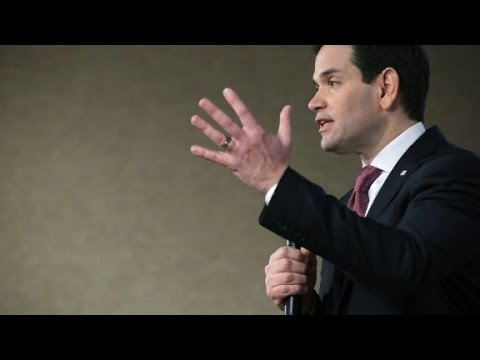 Marco Rubio talks about values, repeatedly