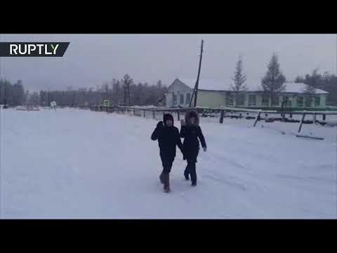 В Якутии дети идут в школу при минус 50