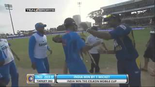India vs Sri Lanka Final  Last Over finish by m s dhoni best finisheser of world 360p