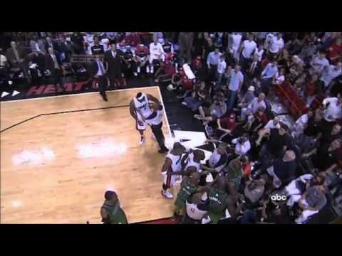 LeBron James FUCKS up O'Neal huge brawl !