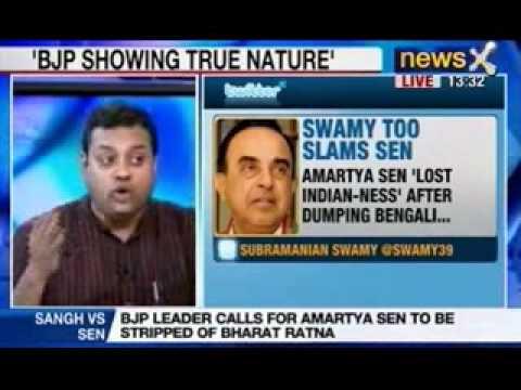 News X: Amartya Sen's remark bothers BJP