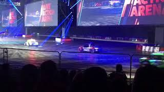 Autosport show live Arena 2018... Autograss V8 mini Wheelies!