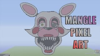 "Minecraft Pixel Art Timelapse: Mangle ""Toy Foxy"" Five Nights At Freddy's"