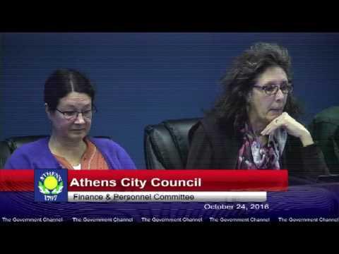 Athens City Council 10-24-16 - City of Athens Ohio Live Stream