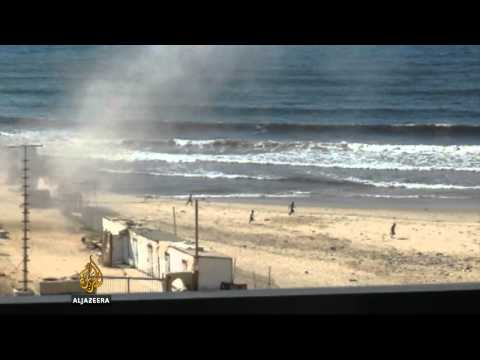 Israeli strike kills children on Gaza beach