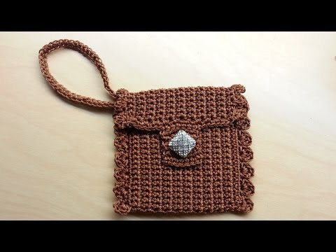Crochet Cute Wrist  Wallet Coin  Purse  Tutorial Nylon Thread