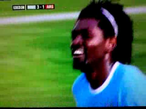 Adebayor celebration