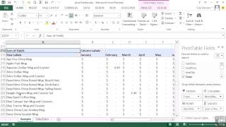 Advanced Microsoft Excel 2013 Tutorial | What Is A PivotTable?